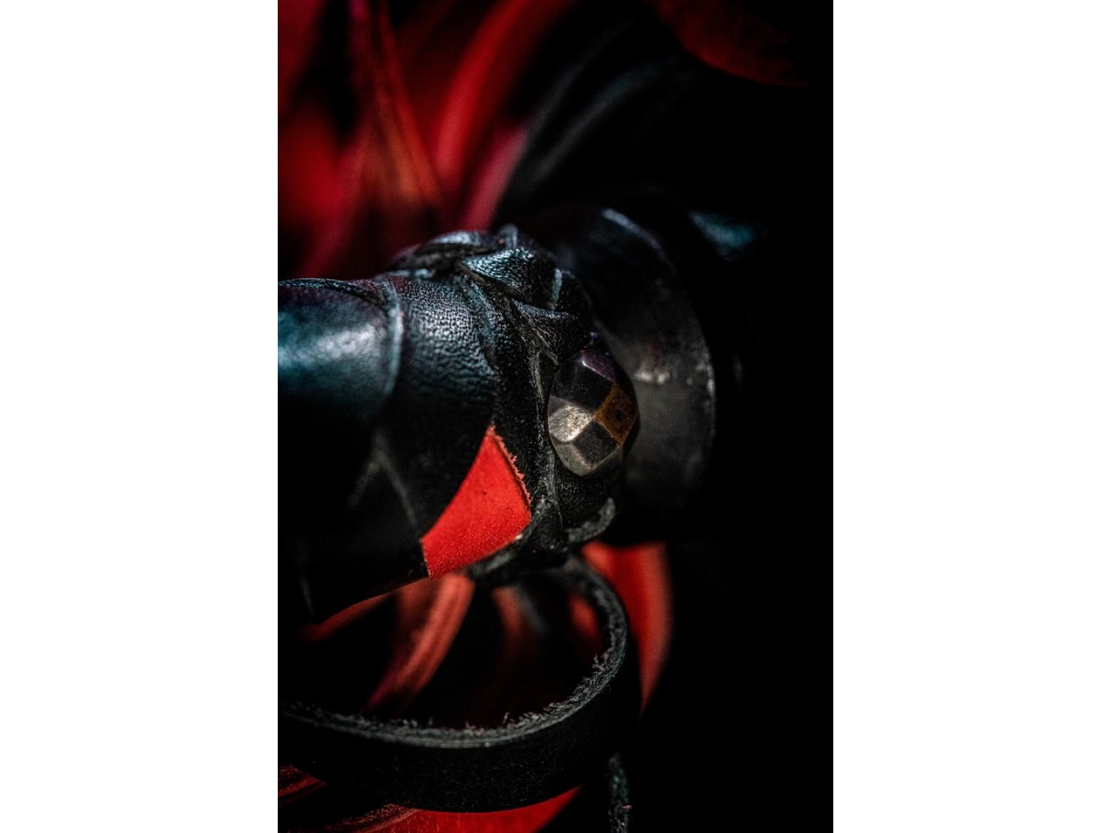 Флоггер черно-красный «Фетиш» 40 хвостов
