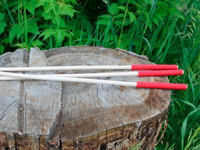Ротанговая трость 10 мм с красной рукоятью