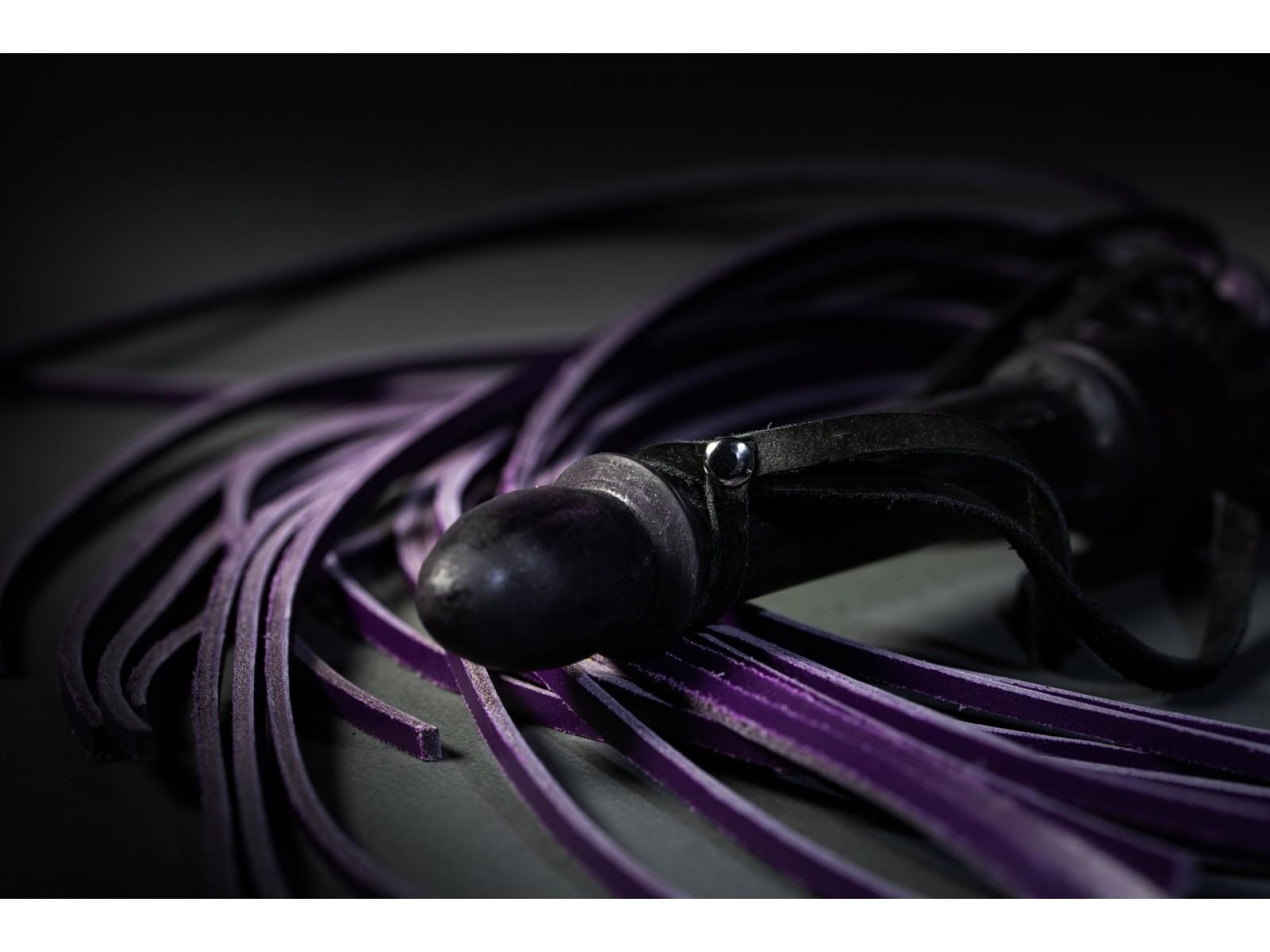 Флоггер строгий фиолетовый 25 хвостов