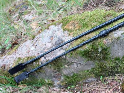 Стек плетеный черный 60 см с рукоятью