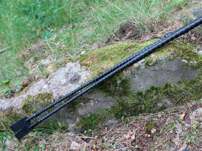 Стек плетеный черный 90 см с рукоятью