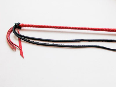 Кнут 2в1 красный с черным
