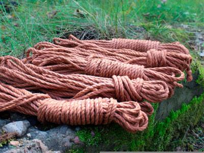 """Веревка джутовая """"Asanawa Tossa Color"""" коричневая"""